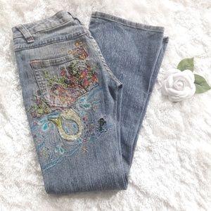 Zana Di Embellished Mermaid Embroidered Jeans